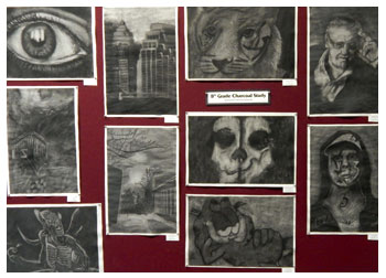 Charcoal study by students of Stacy Westervelt